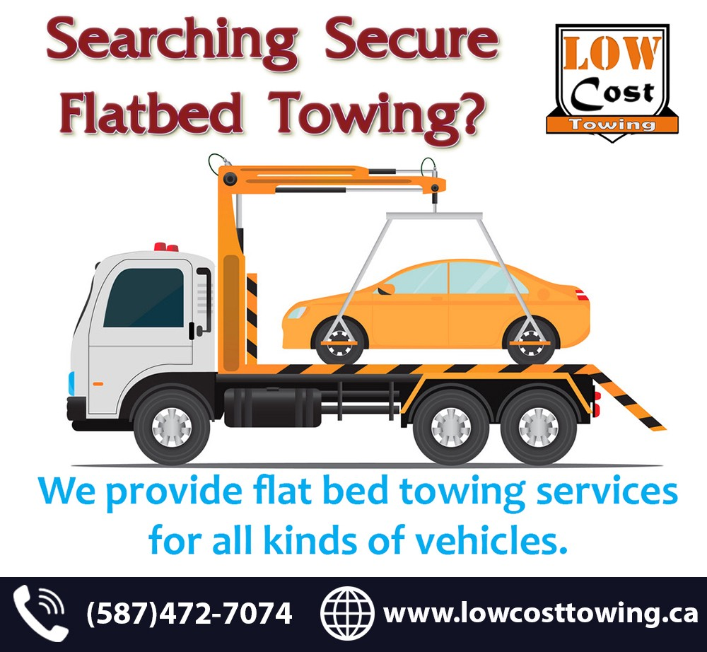 Towing Service Cost >> Best Flat Deck Towing Service In Calgary Low Cost Towing