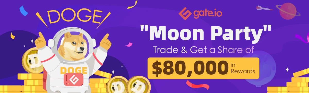 DOGE Moon Party, Trade and Share $80,000 in Rewards
