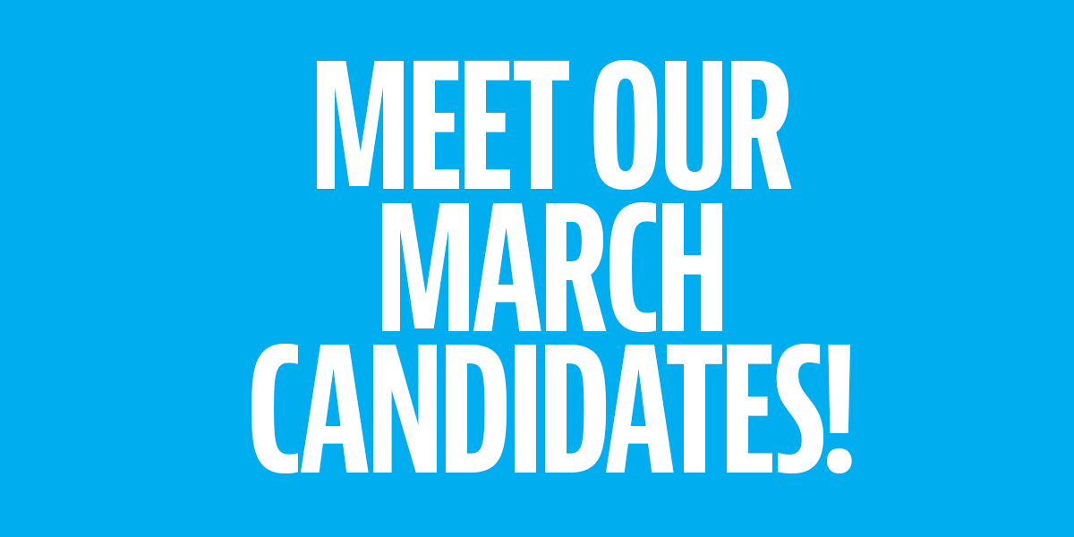 58 new candidates, 58 new stories for you to know and love!