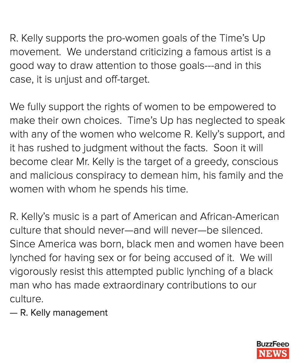 An Erasure Poem From R Kellys Managements Statement About