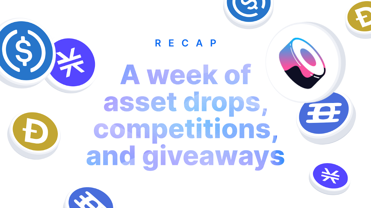 A week of asset drops, competitions, and giveaways   by Jason Karsh   @blockchain   Aug, 2021
