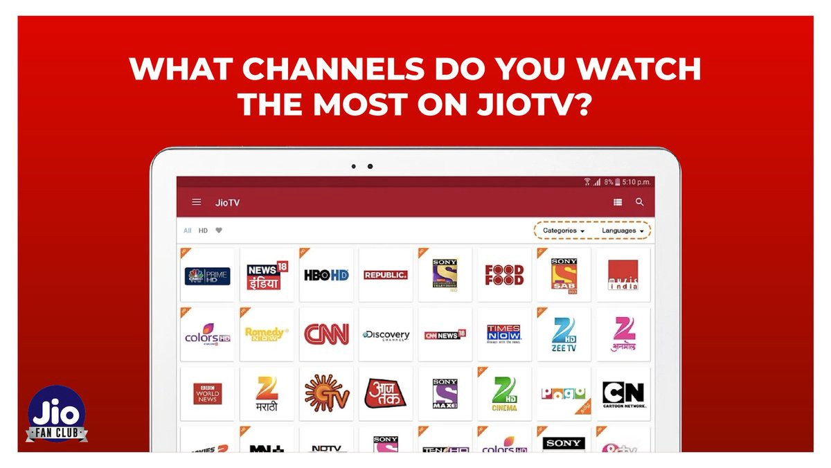 JioTV with 630 live TV channels got you covered for all your