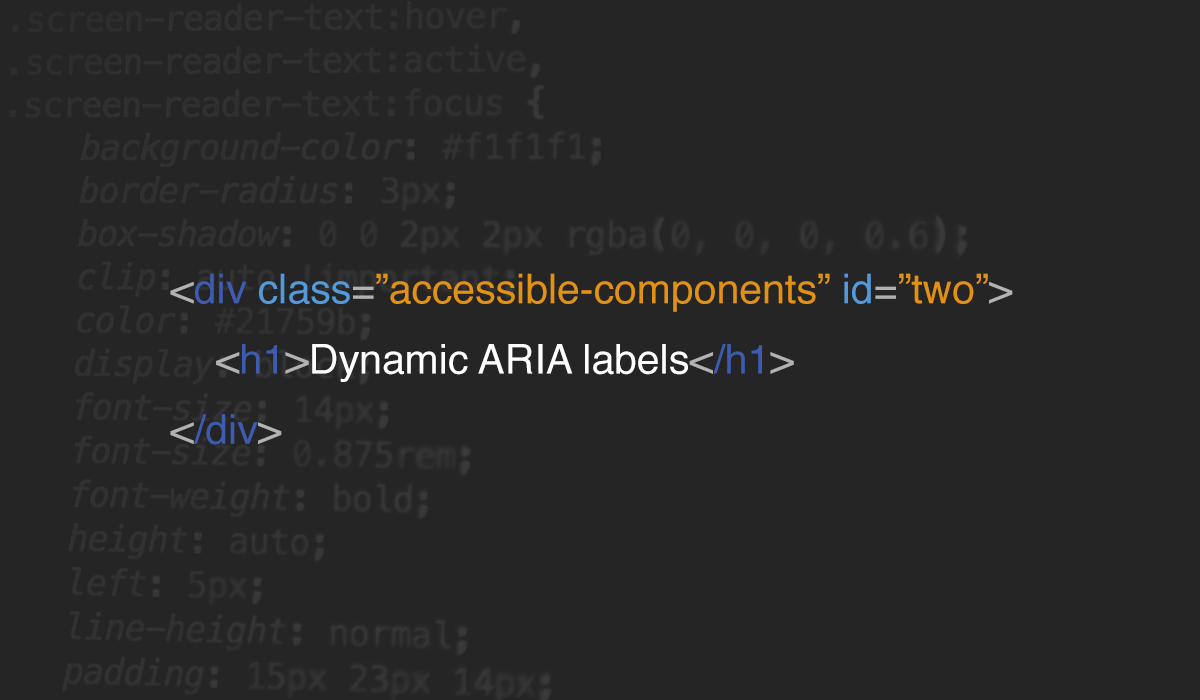 Accessible components: #2 dynamic ARIA labels - Prototypr