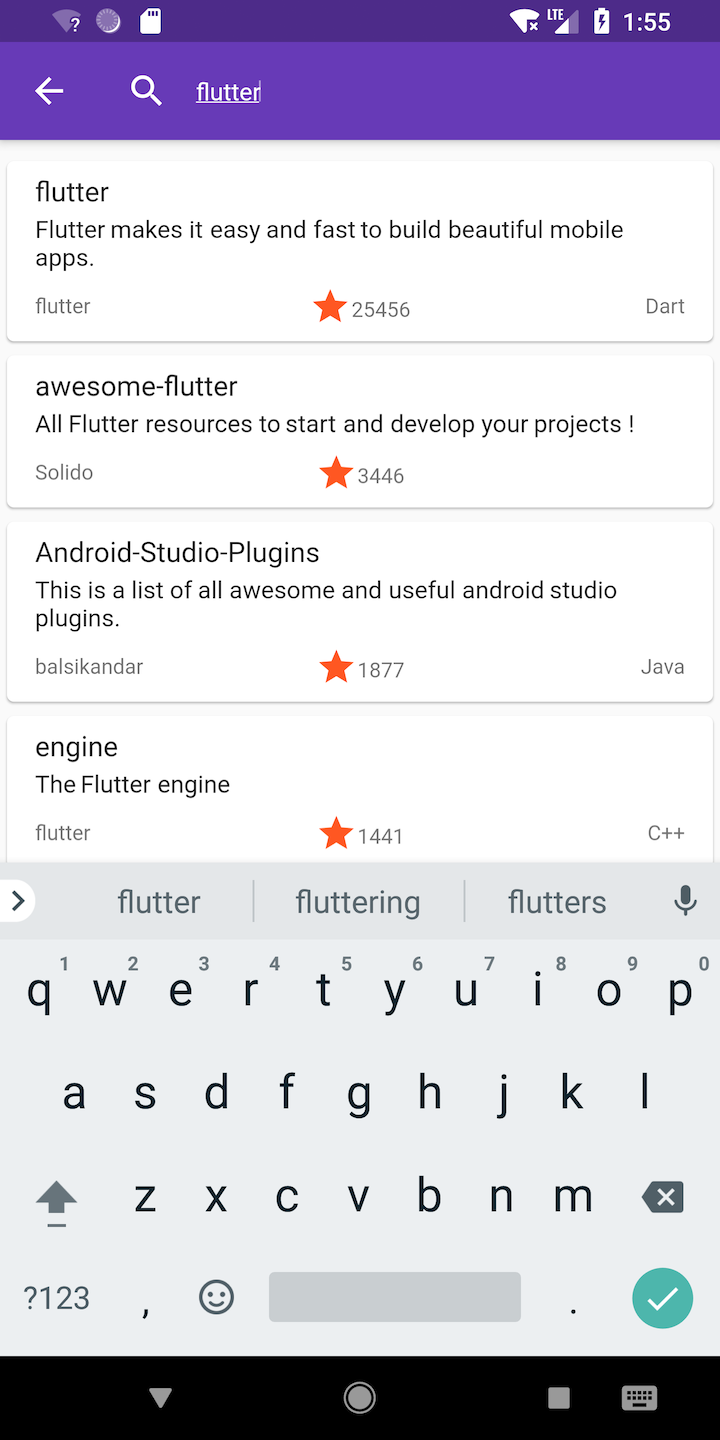Building GitHub Flutter App — Part 2: Search Repositories List
