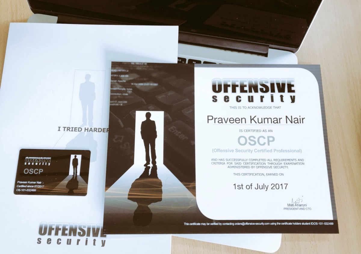 And I did OSCP! - Praveen Nair - Medium