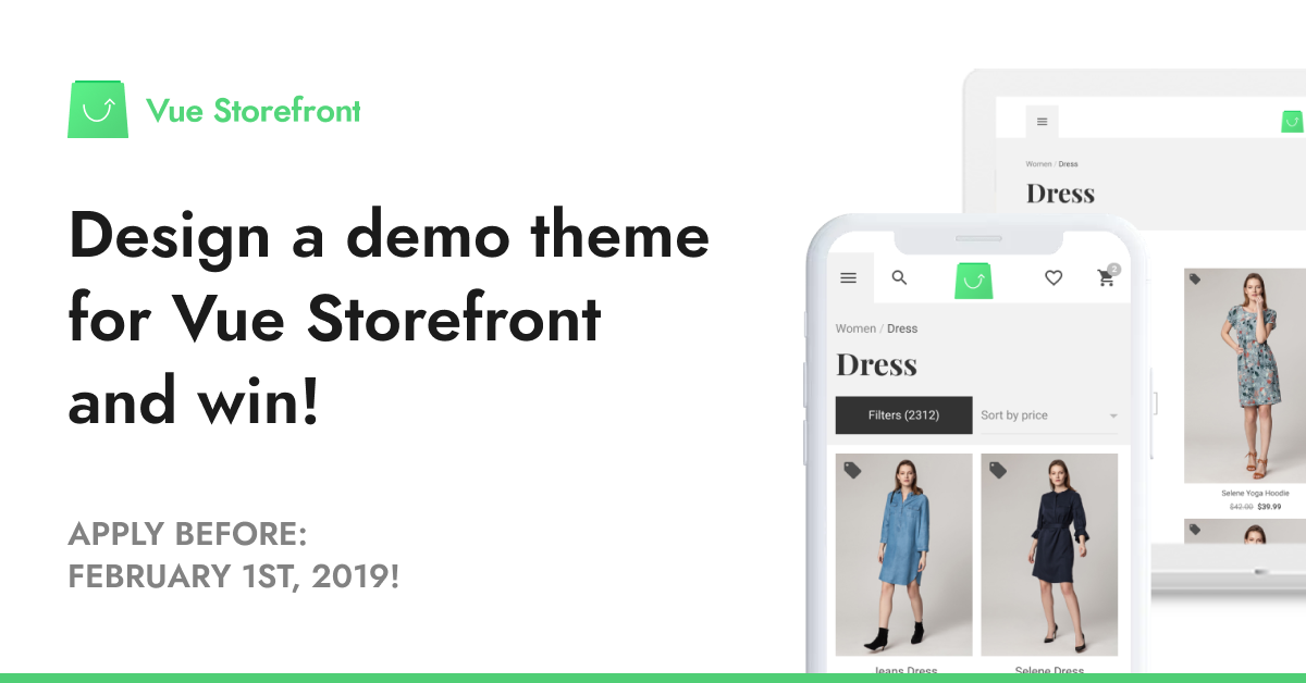 The Demo Theme Prize We Ve Got An Exciting Challenge For All By Piotr Karwatka The Vue Storefront Journal Medium