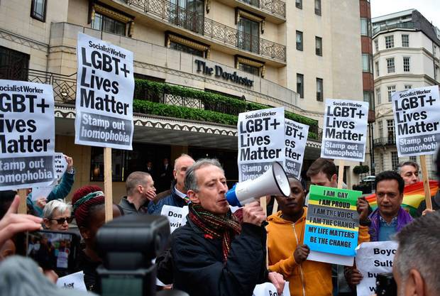 London Protest Against Brunei's New Anti-Gay Laws - Zarah