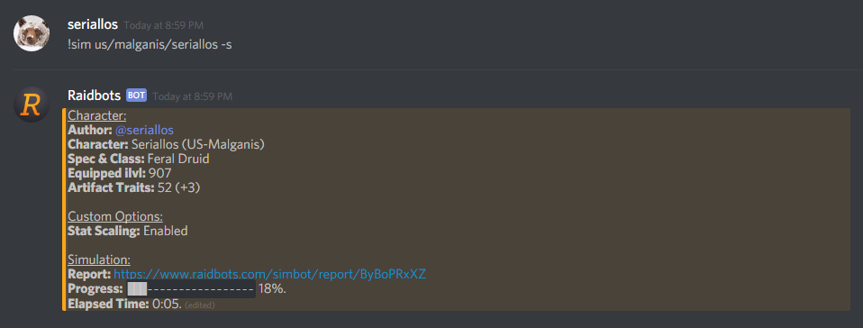 Raidbots Discord Bot - Raidbots - Medium