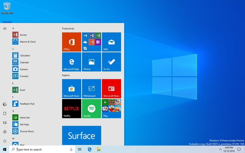 Windows 10 1903 (May 2019 Update) Released, Here the new features