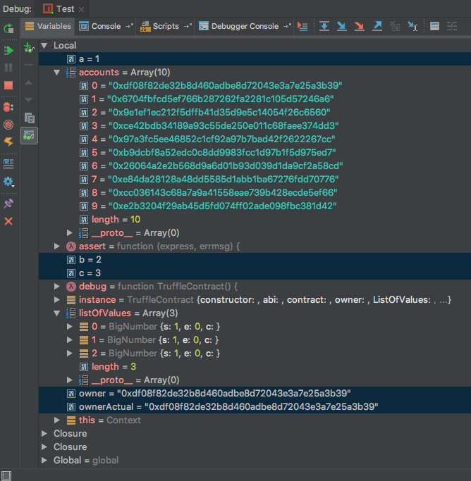 Debugging Solidity Smart Contracts Inside of the IntelliJ IDE
