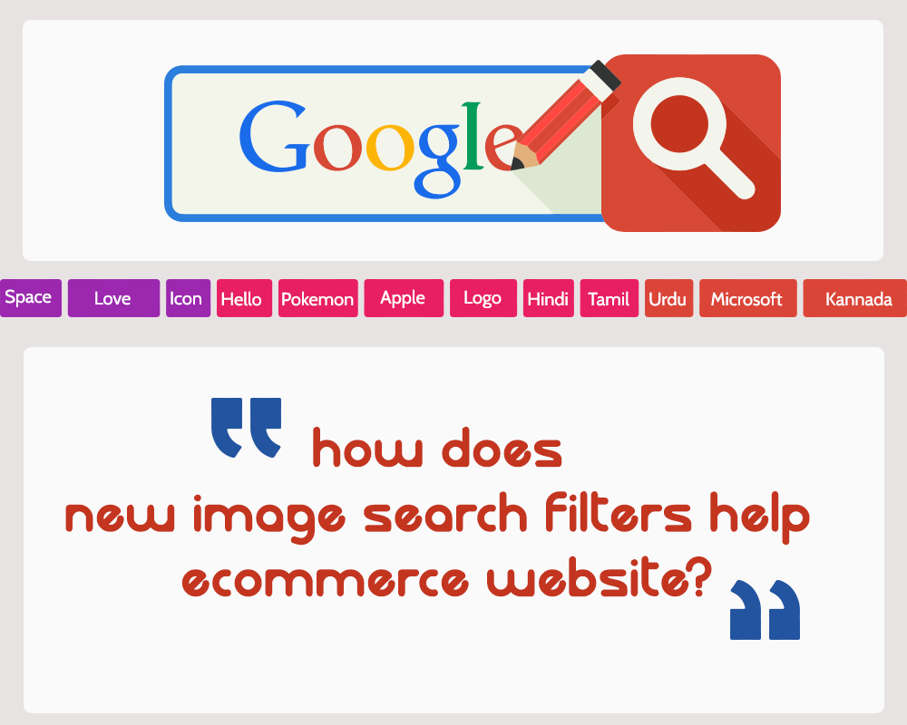How does new image search filters help eCommerce website?