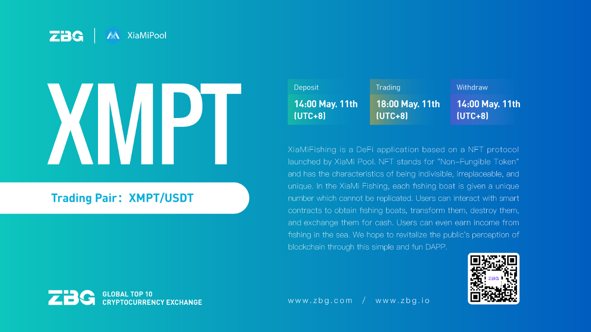 Announcement on the opening of XMPT/USDT trading pair on the ZBG