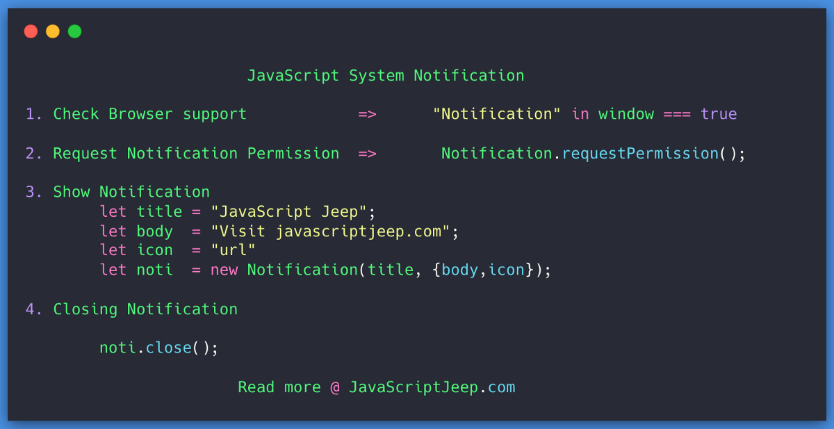 Creating a Browser Notification in JavaScript