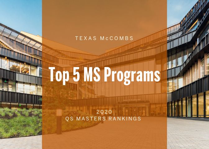 Three MS Programs Hit Top 5 Status, MBA in Top 20