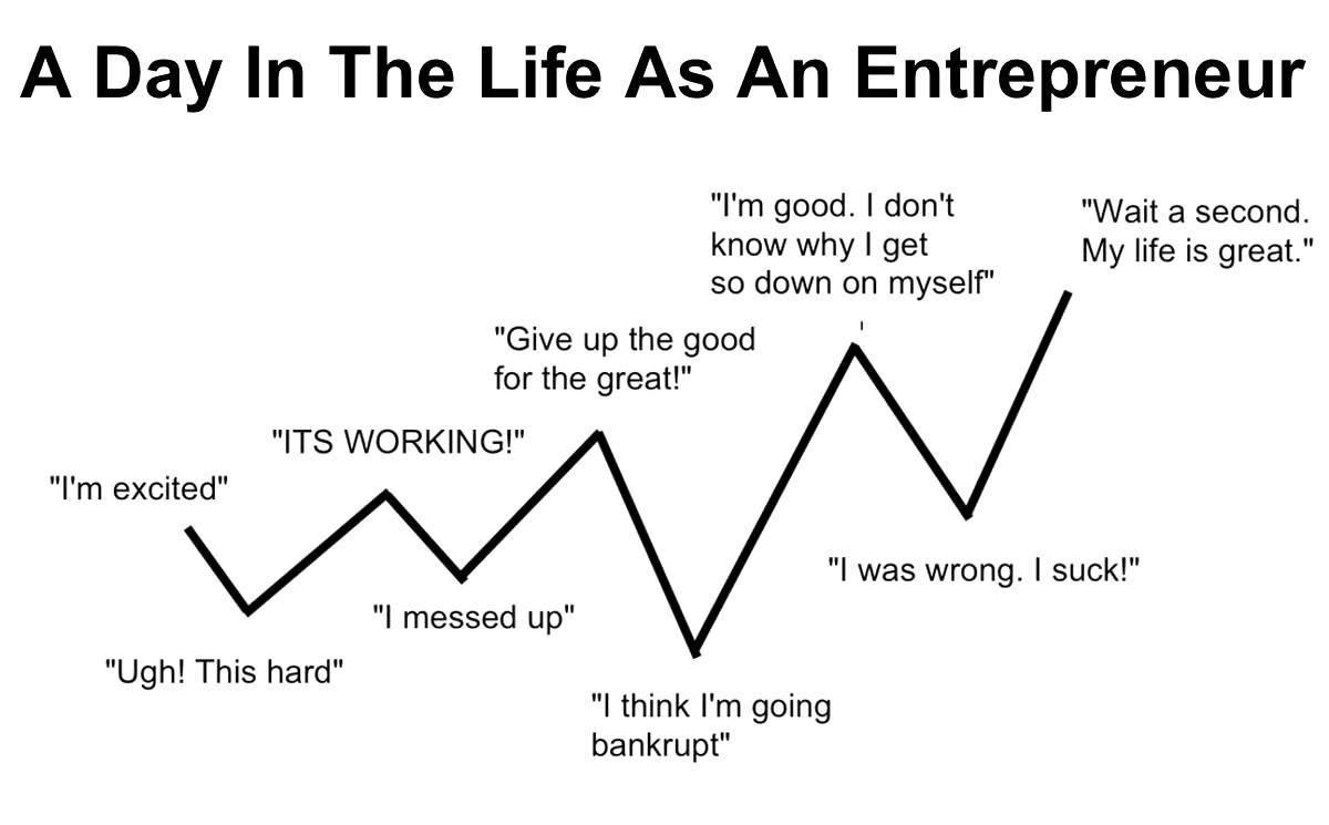 The ups and downs of entrepreneurship ...