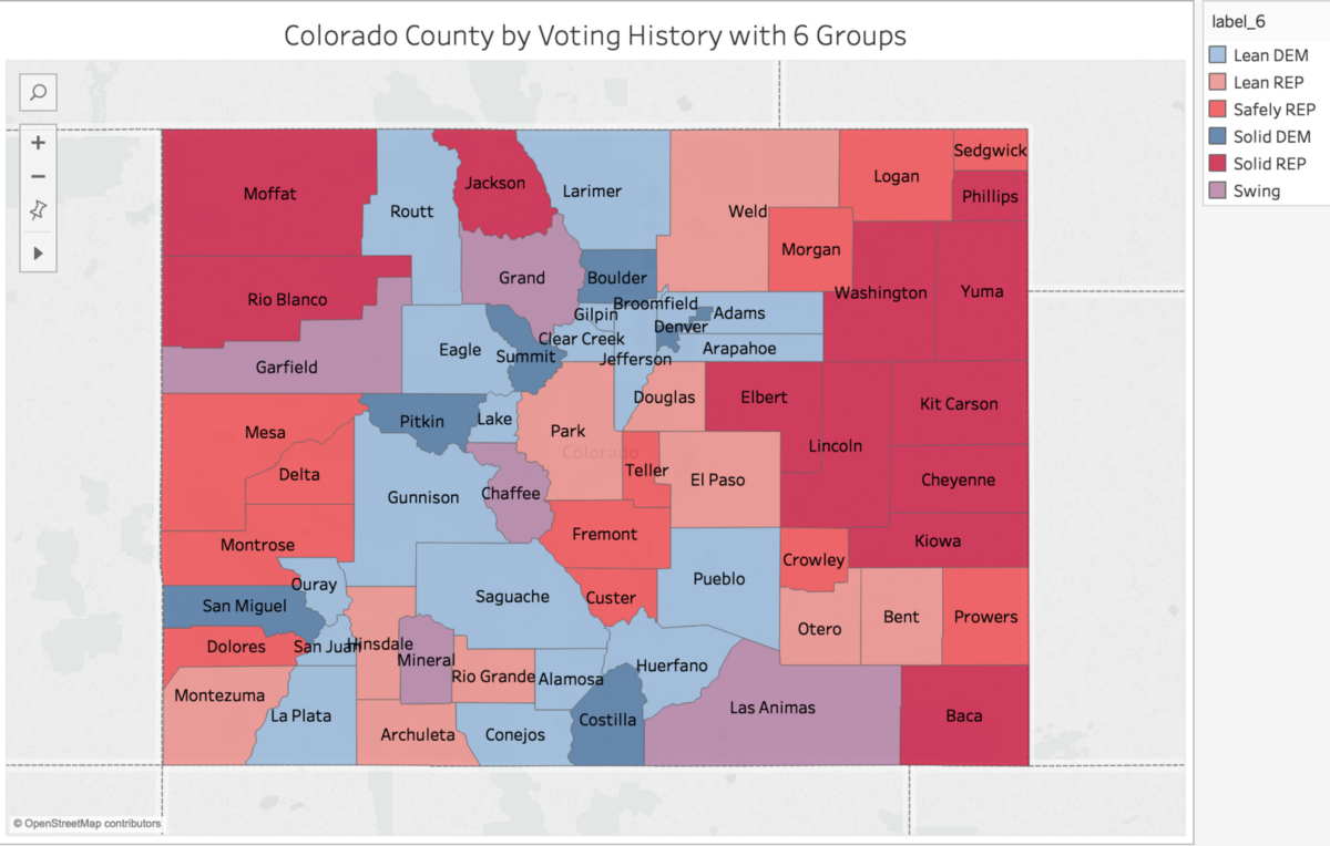 Classifying Colorado Counties Based On Voting History Using
