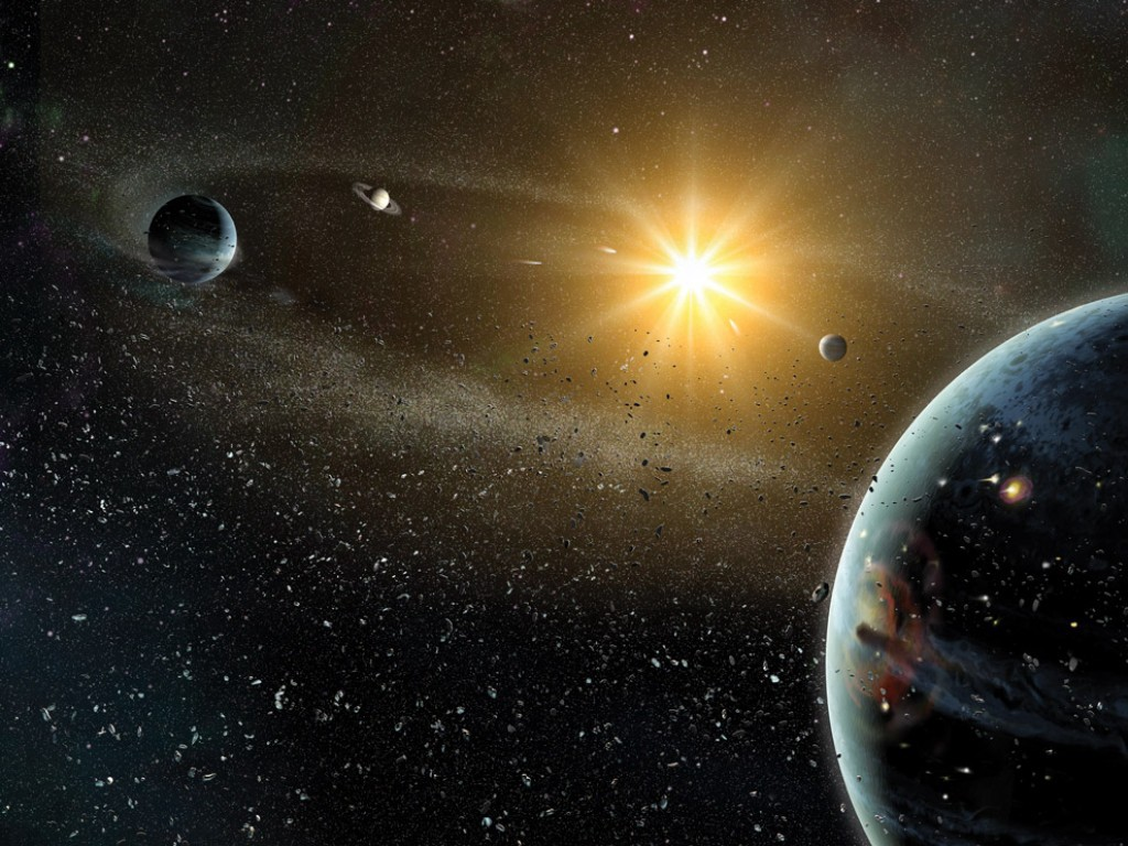 242064d07 The Solar System formed from a cloud of gas, which gave rise to a proto-star,  a proto-planetary disk, and eventually the seeds of what would become  planets.