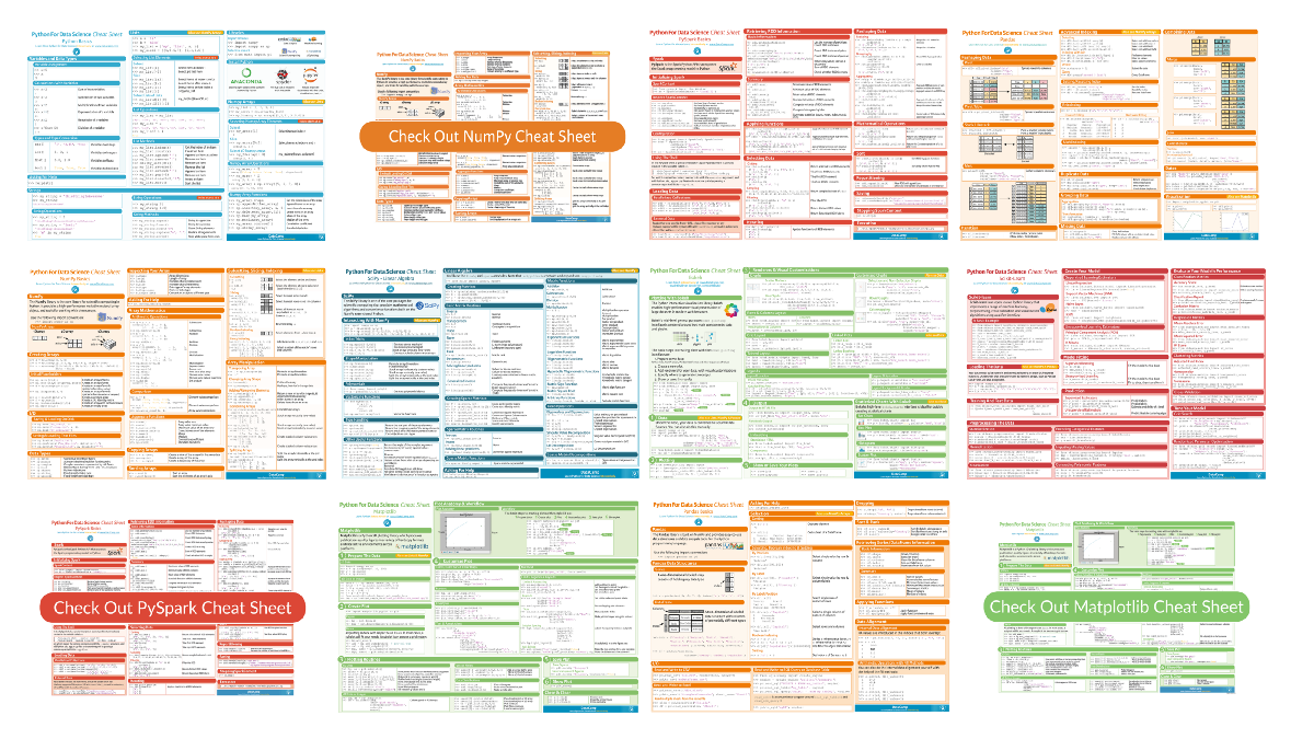 Collecting Data Science Cheat Sheets