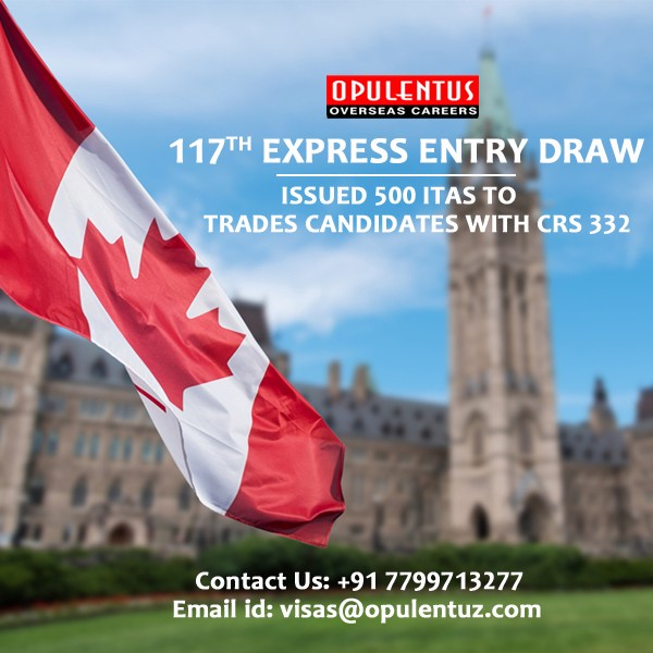117th Express Entry Draw Issued 500 ITAs To Trades Candidates With