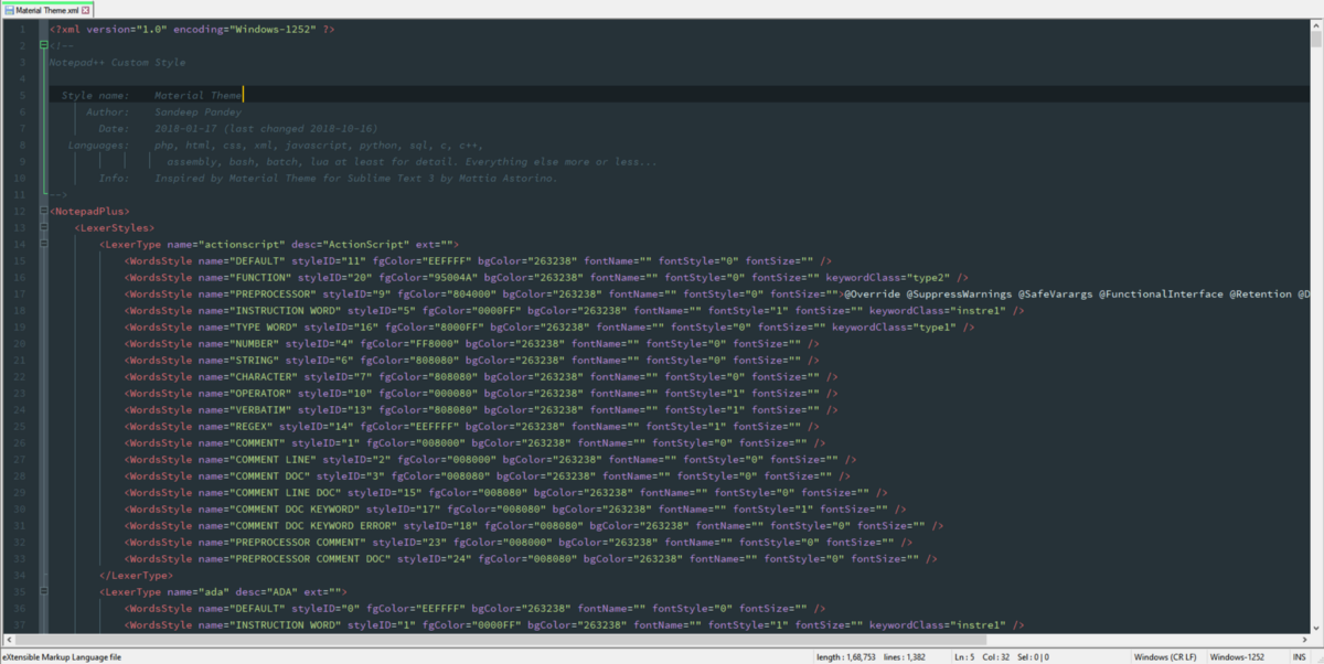 Material Theme   Giving Notepad++ a modern makeover