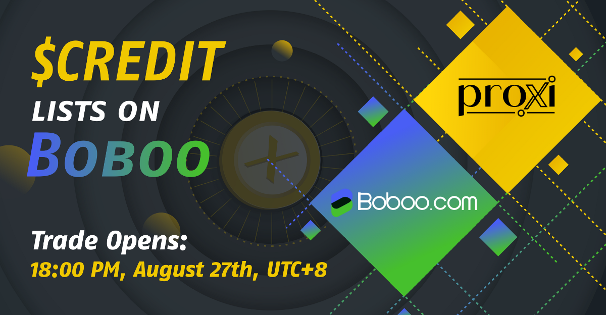 $CREDIT is officially listed on Boboo