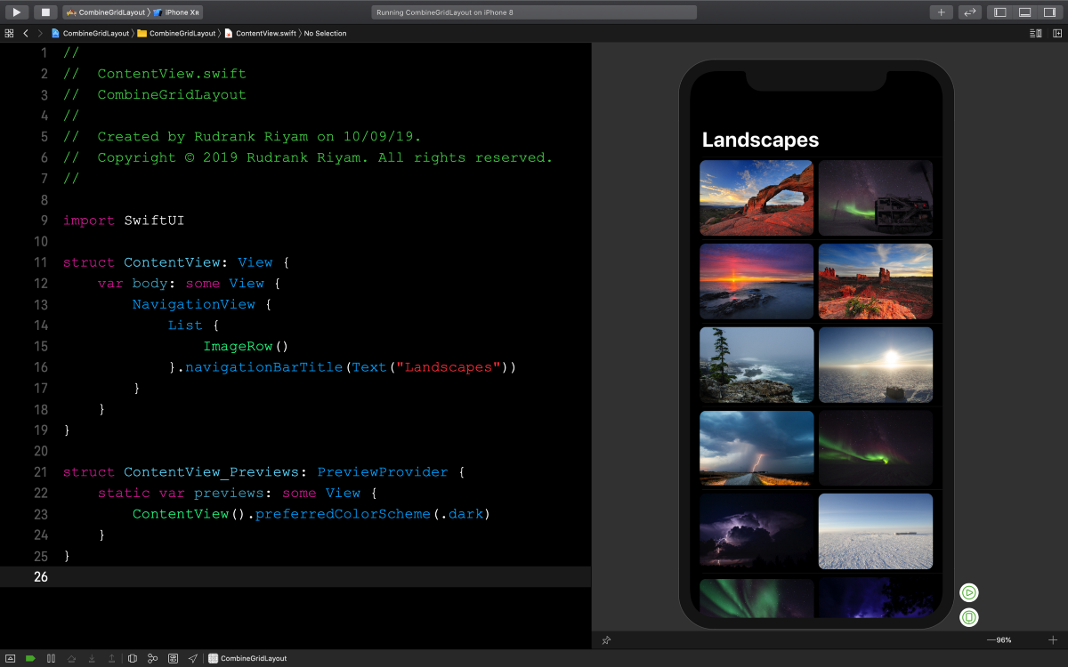 Playing With Combine: Grid Layout in SwiftUI
