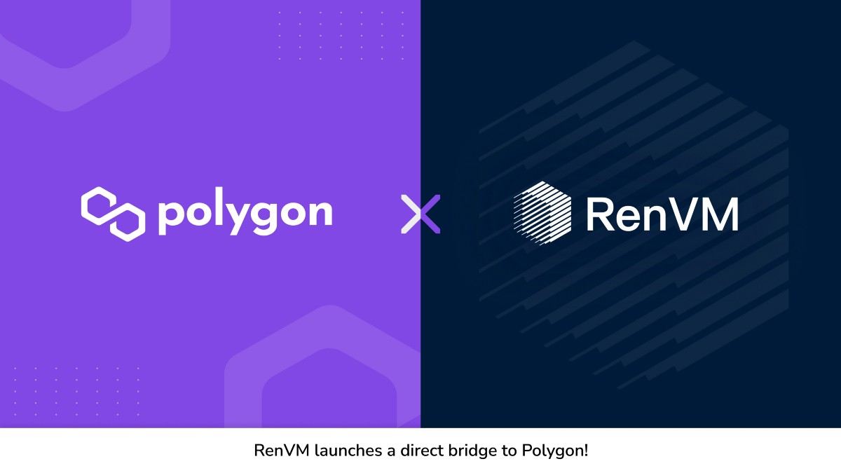 The First RenVM Bridge is now live on Polygon! 🌉