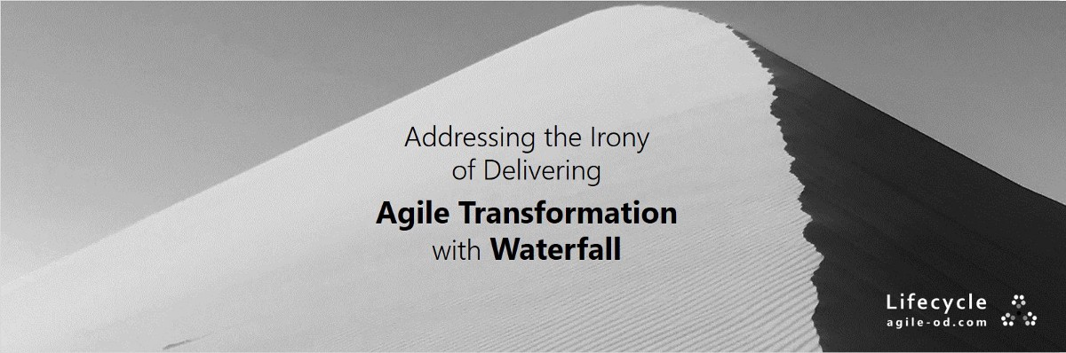 Waterfall Agile: Addressing the Irony of Delivering Agile Transformation with Waterfall