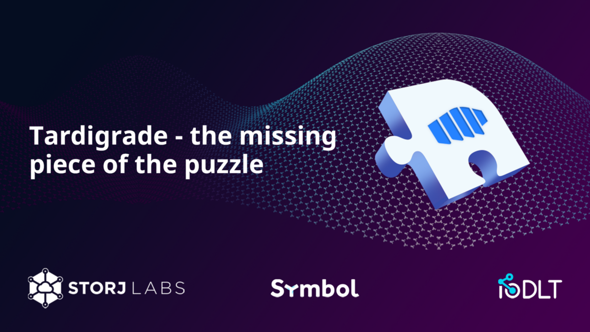 'Tardigrade—the missing piece of the puzzle for storing Data on the blockchain'