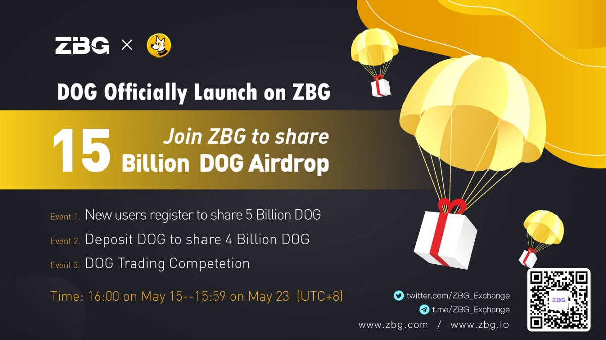 Announcement on the opening of DOG/USDT trading pair on the ZBG and some bonus events
