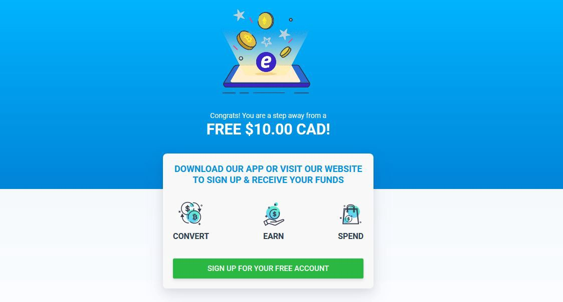 Earn 10 Canadian Dollars (= 7 50 $)for Einstein Exchange Signup