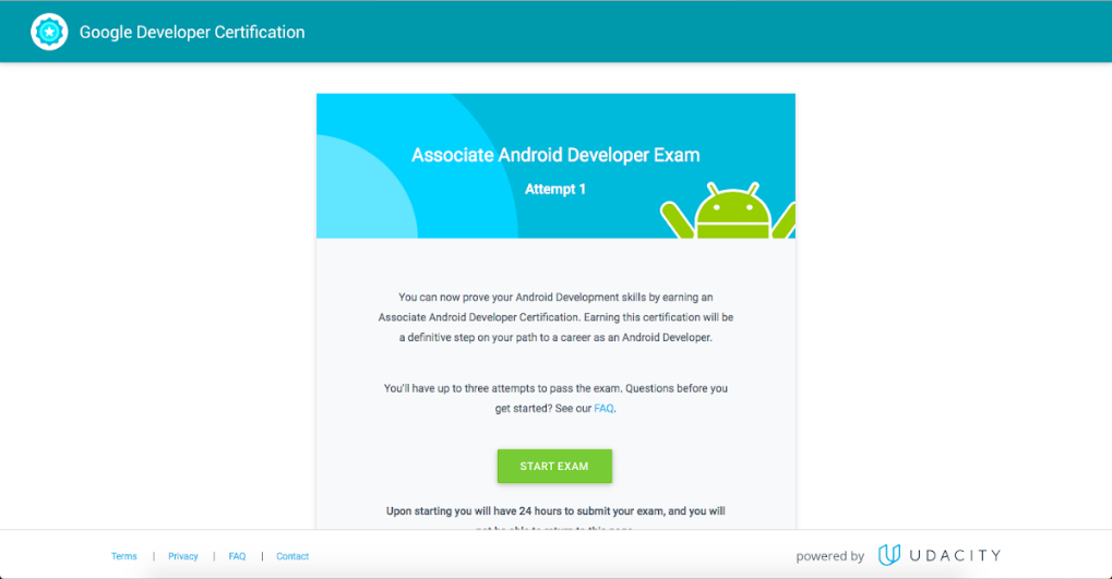 Walkthrough of / My experience with Associate Android Developer