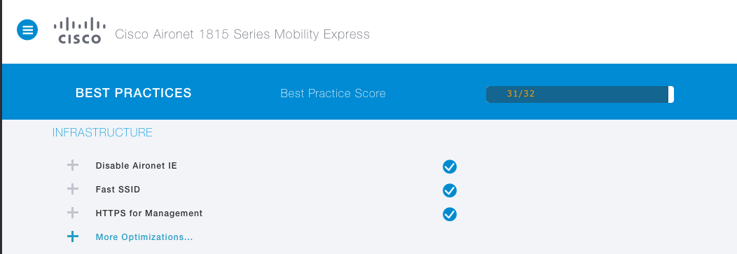 Apple Devices Best Practices config in Cisco 1815 Mobility Express