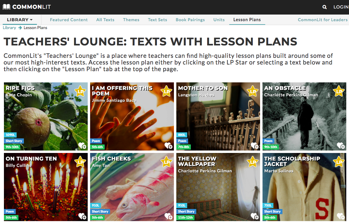 16 CommonLit Lesson Plans - Cara Popecki - Medium