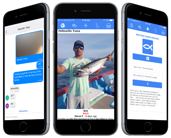 A social mobile messaging marketplace app using React Native