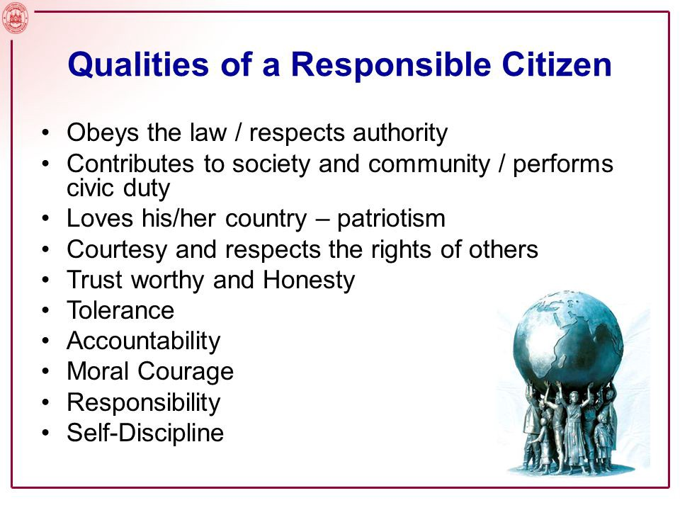 Responsible Citizen Of Society?
