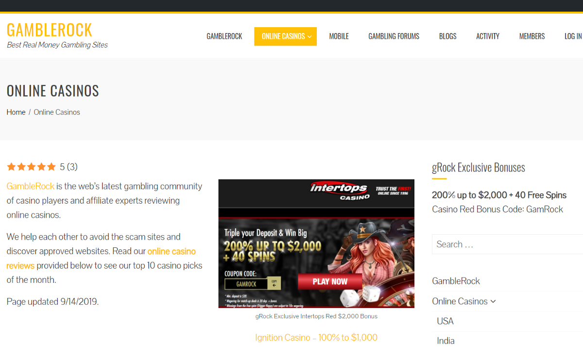 cc features top online casinos