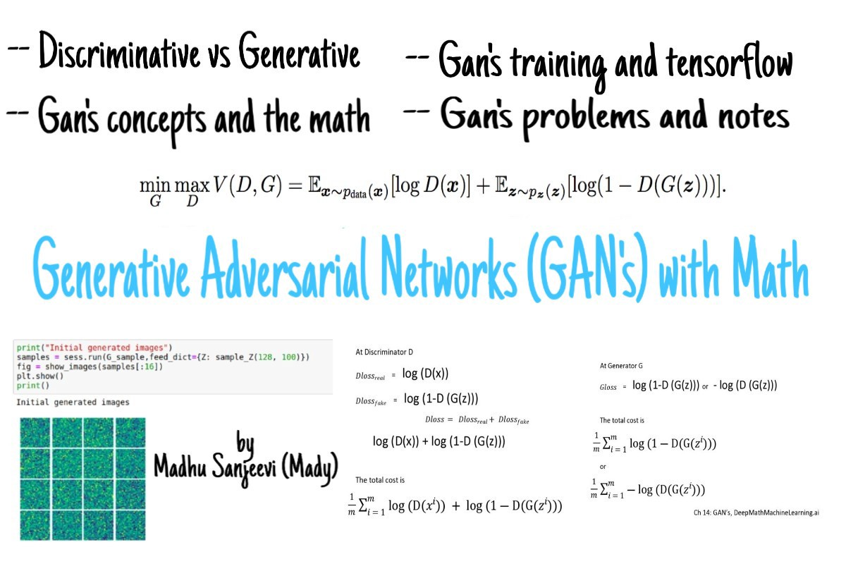 Ch:14 Generative Adversarial Networks (GAN's) with Math