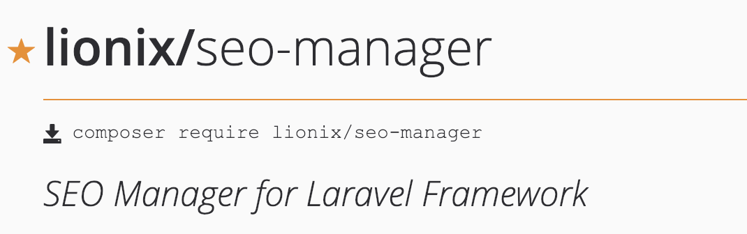 SEO Manager Package for Laravel Framework - Sergey Karakhanyan - Medium