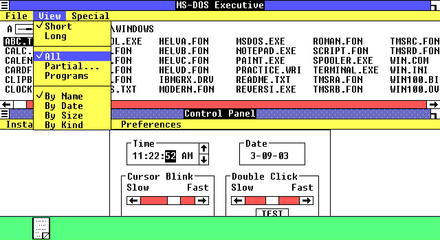 Vintage Windows GUIs in Everything is going to be OK