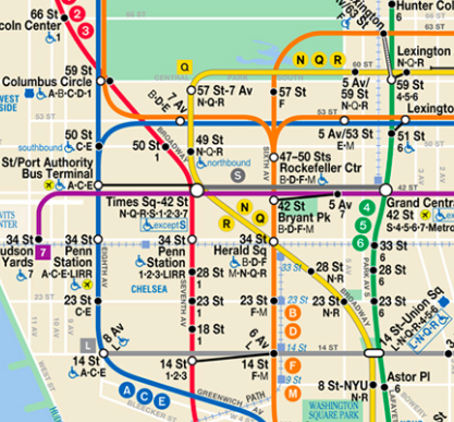 How to ride the New York City subway without getting lost  Train Map on las vegas metro rail map, mbta commuter rail map, chicago cta map, staten island ferry map, mta subway map, world trade center new york map, ny subway map, m train map, j train map, new york central railroad map, vta light rail map, 4 subway map, whitestone bridge map, 1 train map, bruckner expressway map, irt lexington avenue line, r subway map, q train map, 7 train map, mta bronx bus route map, 7 subway line map,