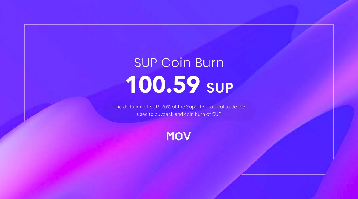MOV SUP Coin Burn(March)