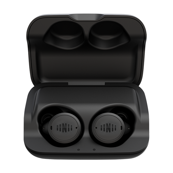 The IQbuds2 Max buds in their charging case