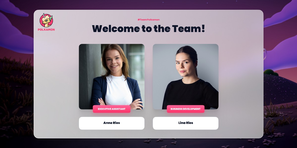 Good Things Come in Pairs. Welcome to the Team Anne & Lina Ries!