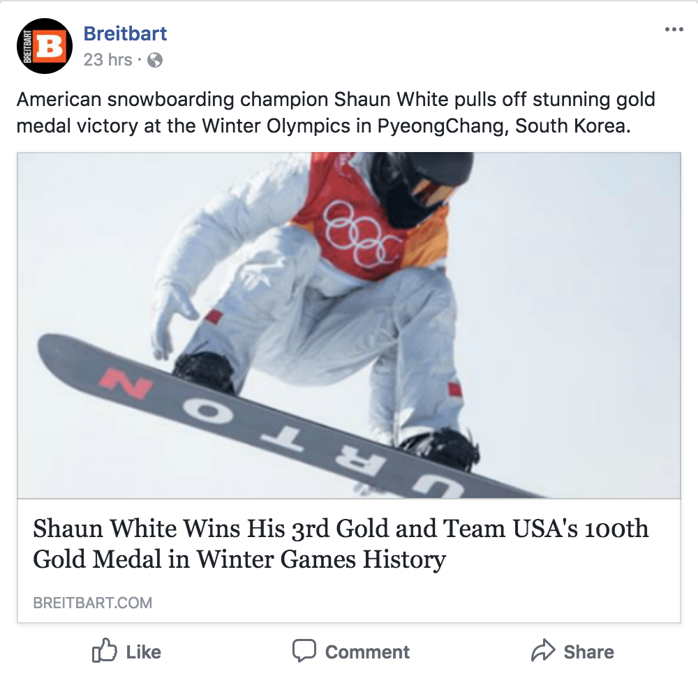 Olympic Gold Metals vs  Breitbart Comment Section - RTA902 (Social