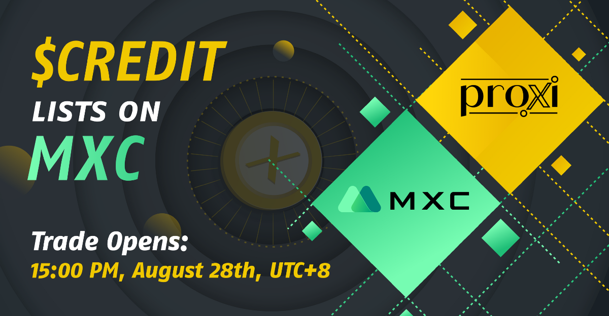 $CREDIT is officially listed on MXC