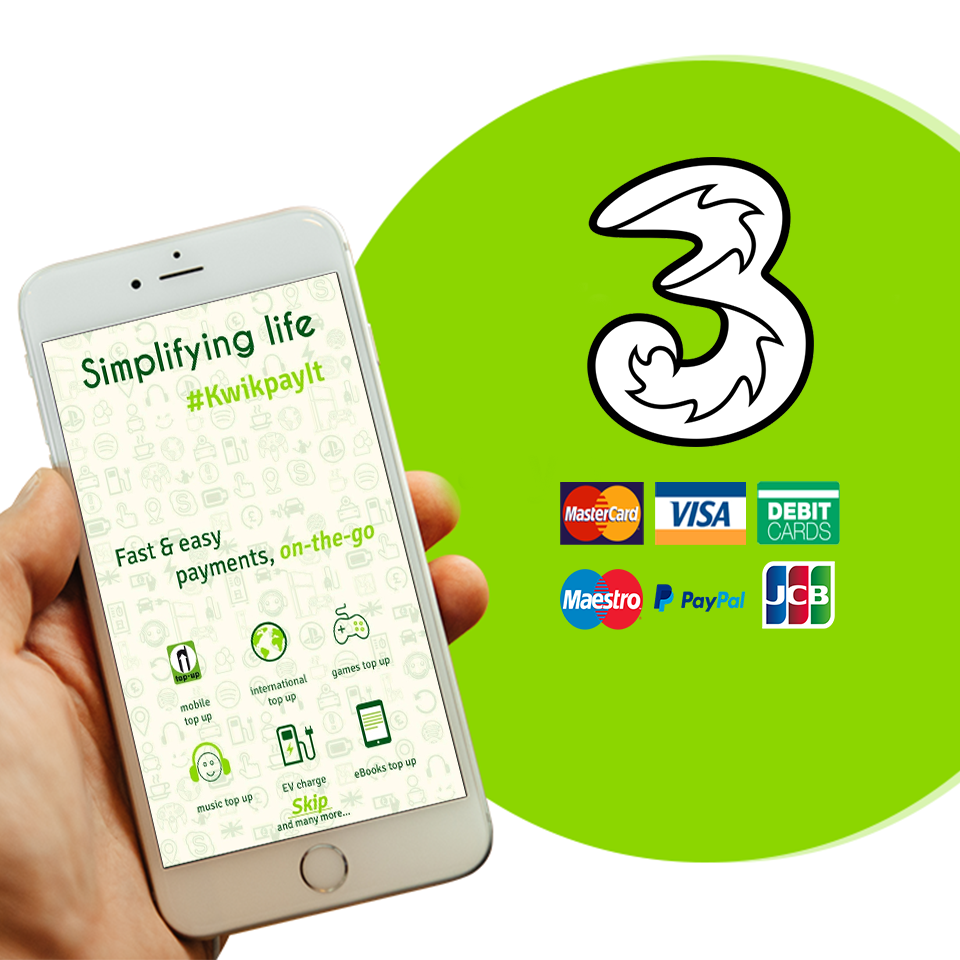 We have Quick & Easy Three Top Up Services with Best Mobile