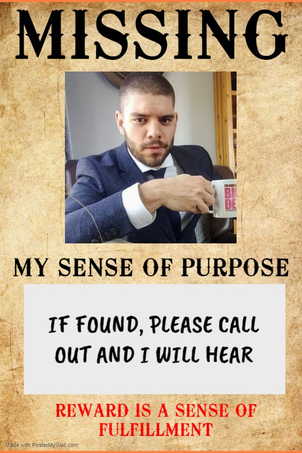 joke missing poster with author's face