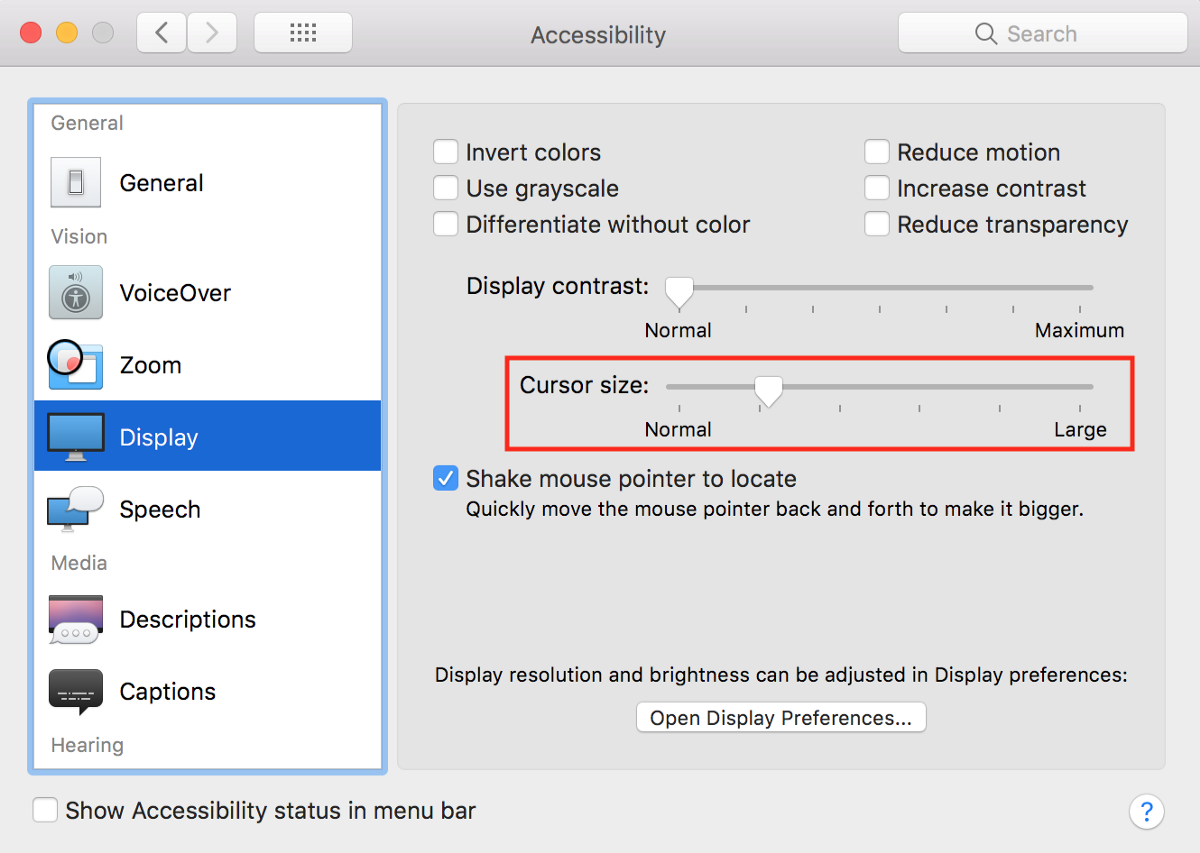 Mac Cursor disappeared in high resolution monitor? Here is a quick fix