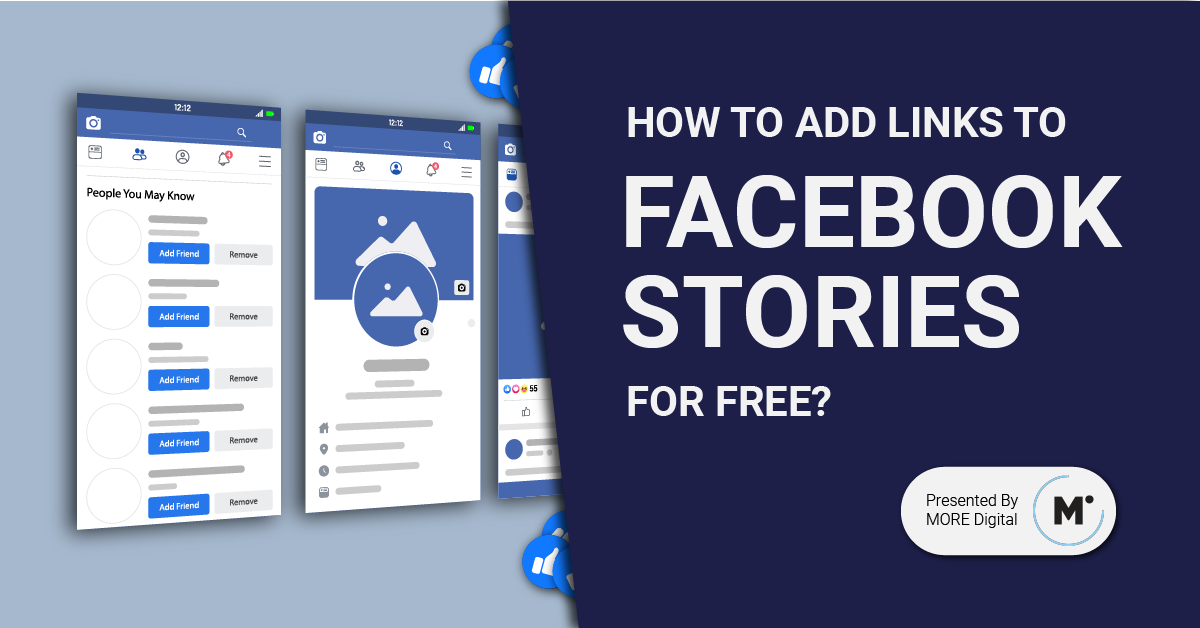 How To Add Links To Facebook Stories For Free For Personal Account And Facebook Pages By More Digital Medium